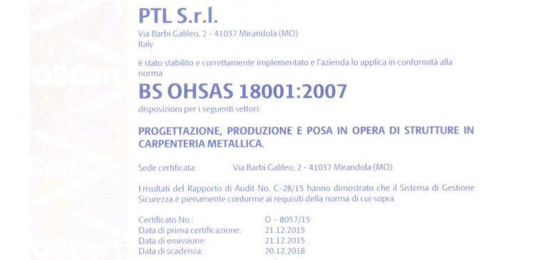 Certificato 18001